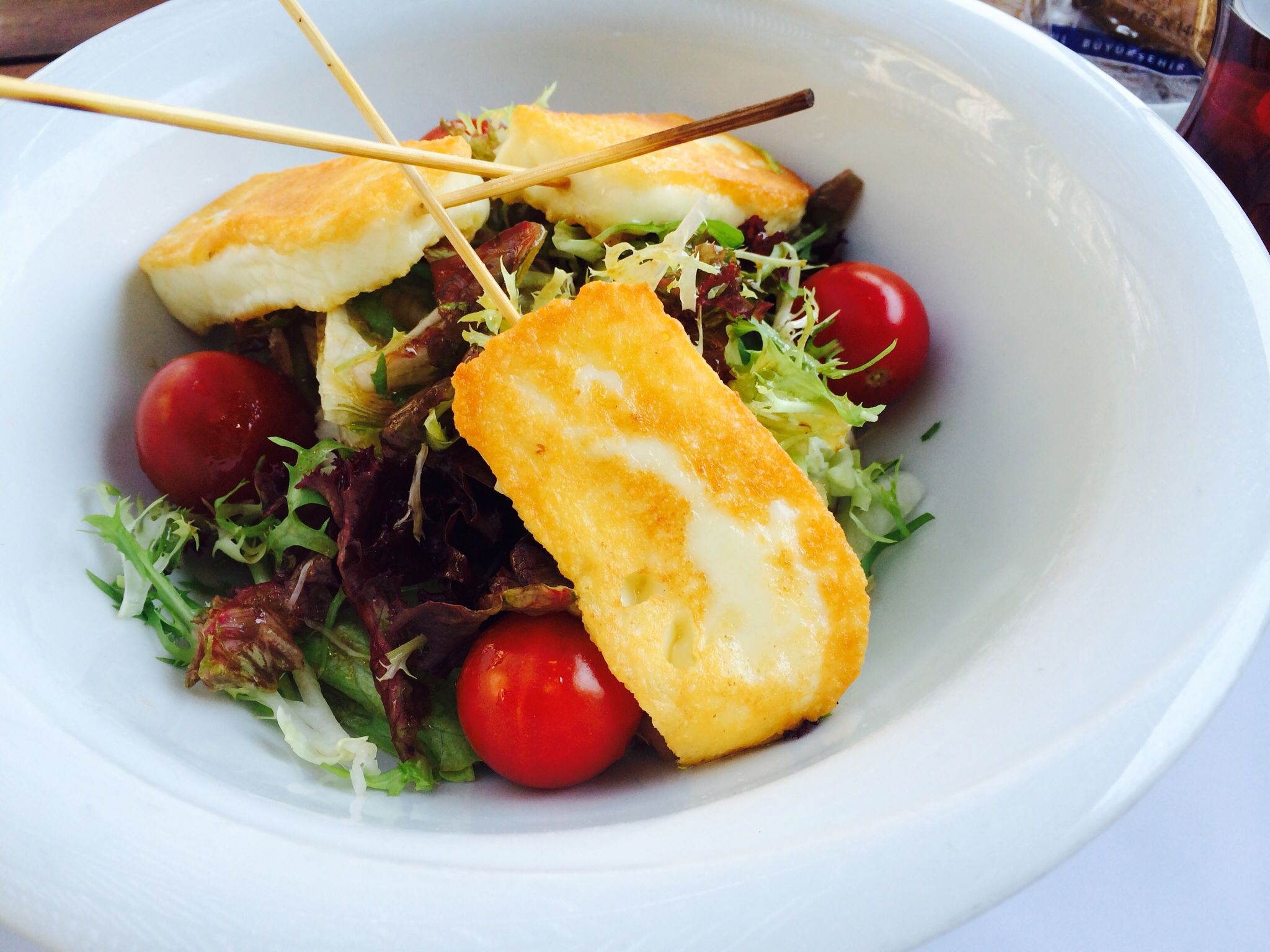 Grilled Halloumi Cheese Salad ..