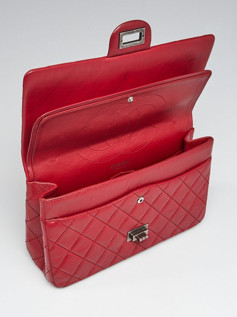 2f4957f0e36481 Chanel 2.55 Reissue Flap Bag Interior   YoogisCloset.com   Chanel ...