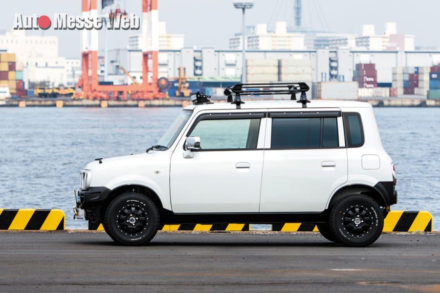 ラパンの車高アップで見えてきた 新たな軽自動車カスタムの可能性 Auto Messe Web 軽自動車 カスタム ラパン カスタム 軽自動車
