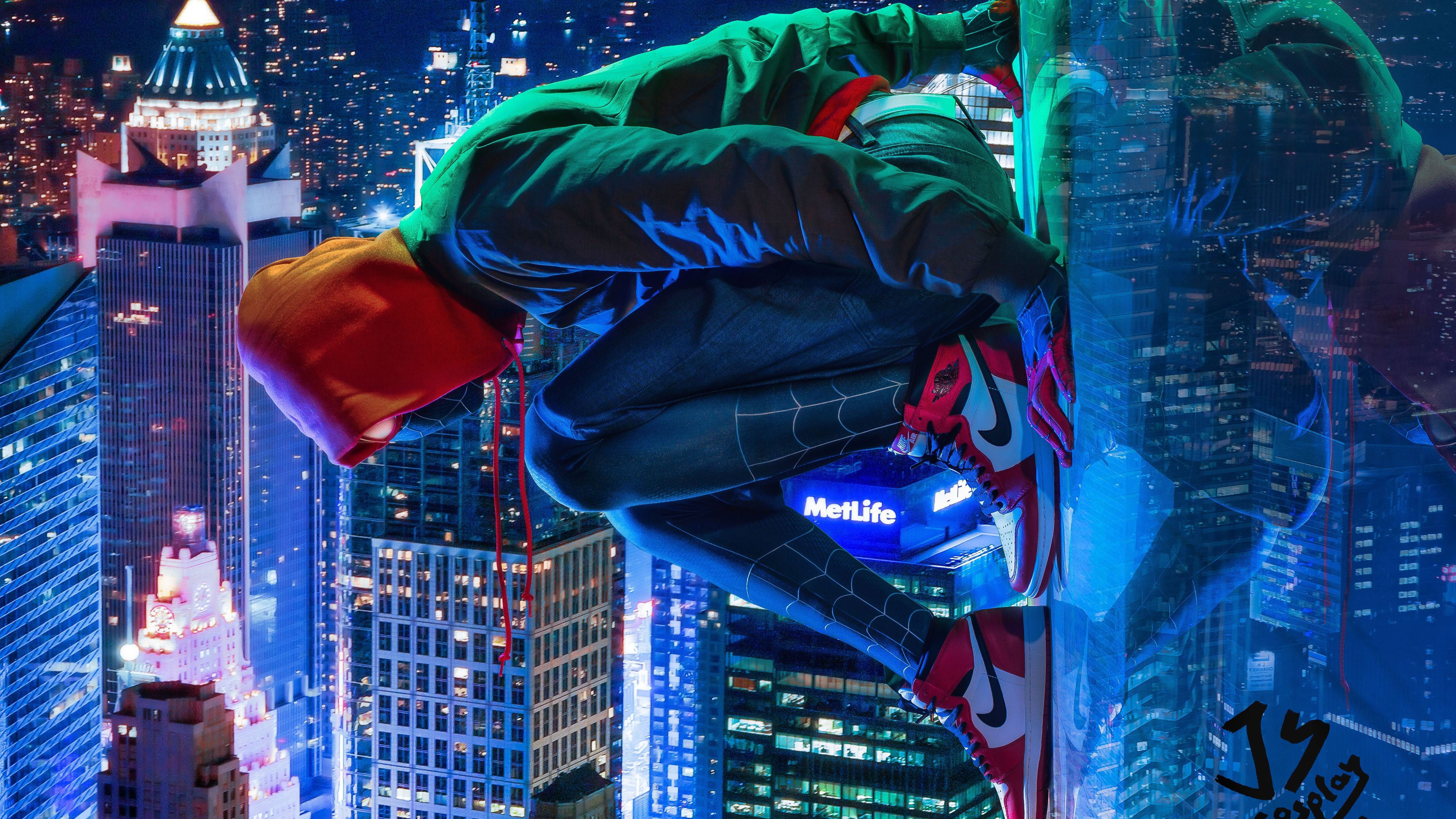 Miles Morales Spiderman Cosplay 4k Superheroes Wallpapers Spiderman Into The Spider Verse Wallpapers Miles Morales Spiderman Spiderman Cosplay Miles Morales