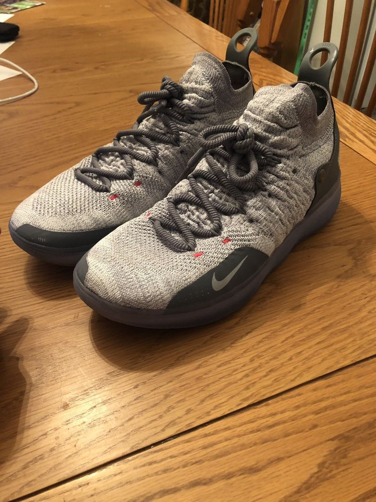 b1d0b3ef94a1 NIKE ZOOM KD11 COOL GREY WOLF GREY-PURE PLATINUM AO2604-002 NEW 2018 ...