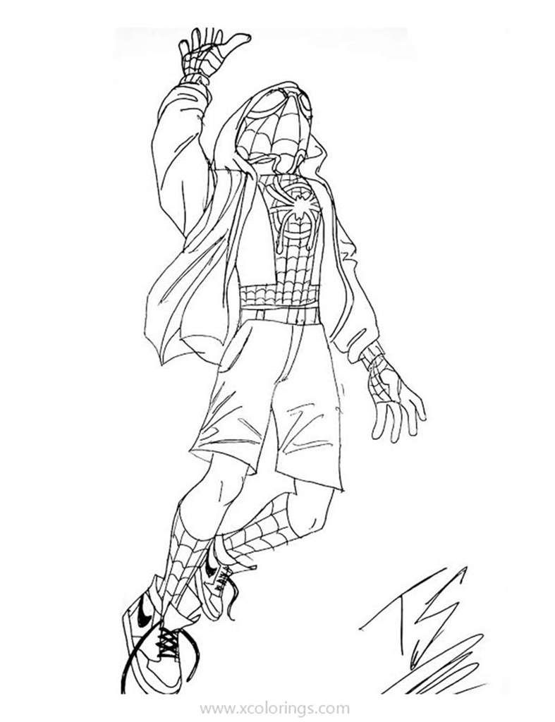Miles Morales Spider Man Coloring Pages Miles Morales Spiderman Spider Coloring Page Spiderman Coloring