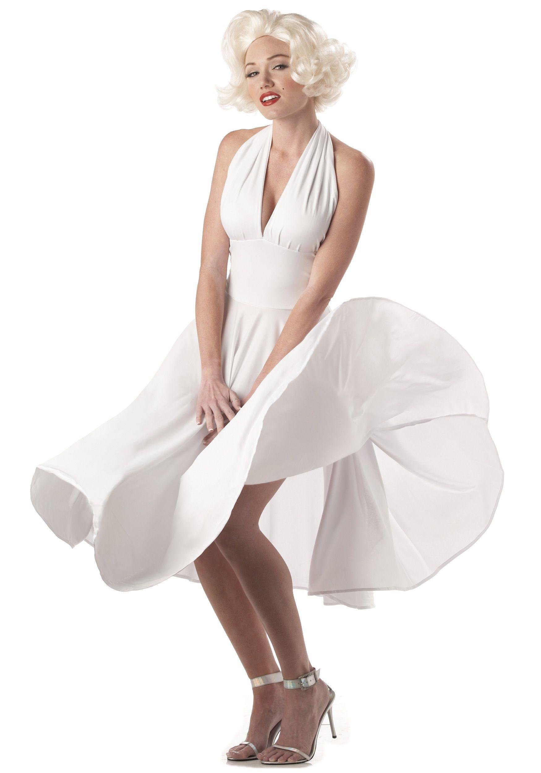 Marilyn Monroe White Dress Costume - White Halter Top Dresses ... 4289a5ef97