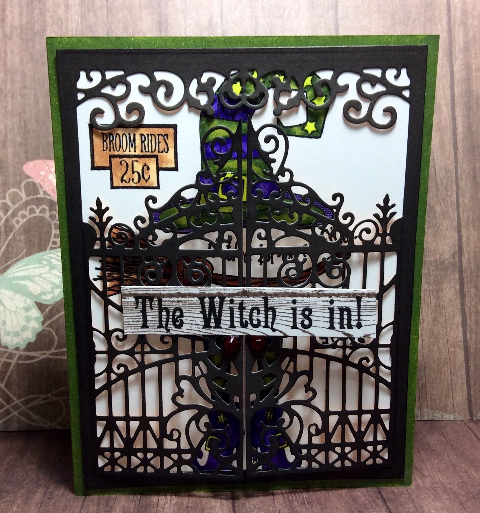 The Witch is in!, Handmade Halloween Card, Handmade