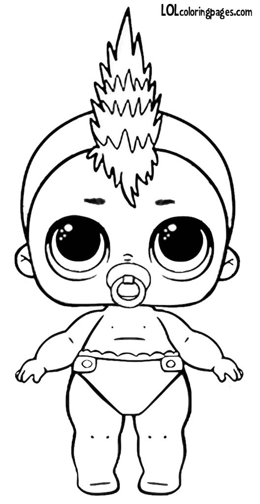 Coloriage En Ligne Lol.Lil Punk Boi Series 3 Wave 2 L O L Surprise Doll Coloring Page