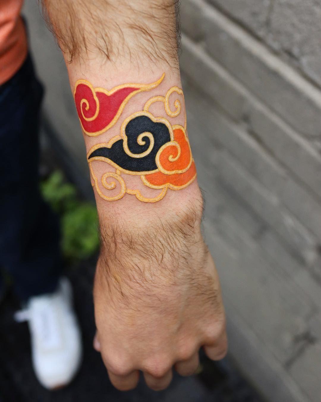 Akatsuki Cloud Tattoo : akatsuki, cloud, tattoo, Naruto, Tattoos, Ideas, Tattoo,, Tattoos,, Anime