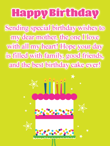 Best Cake Ever Happy Birthday Card For Mother Sha Pinterest