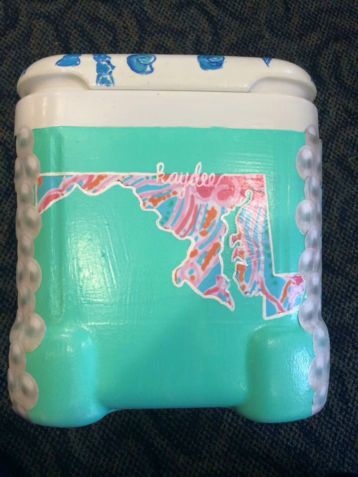 State love, painted cooler