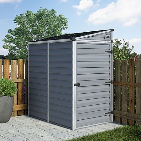 Photo+de++Abri+de+jardin+adossable+en+polycarbonate+2m%c2%b2+gris+r ...