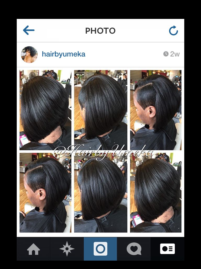 Undercut And Quick Weave Bob Hairbyumeka Cool Hairstyles