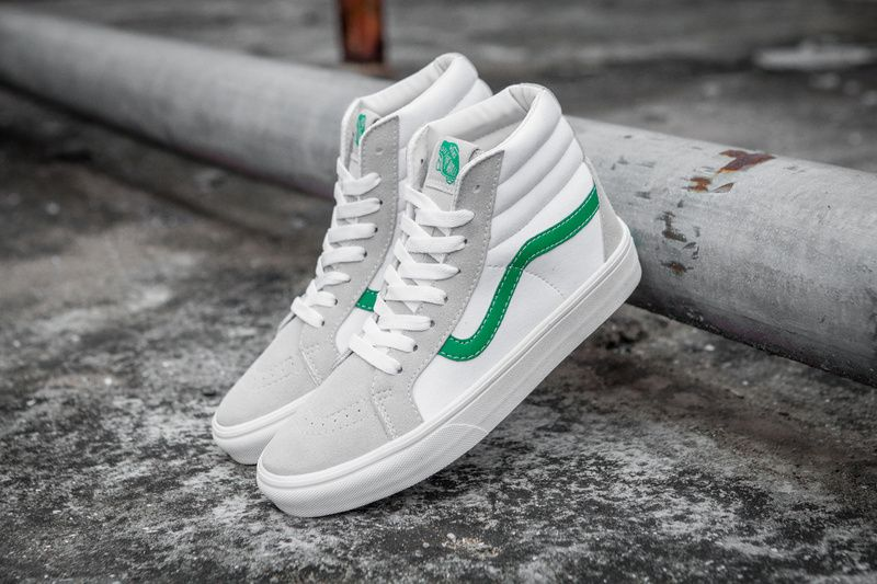cc4a1904fa VANS SK8-HI day cat with the 50 anniversary of the same day Moggito green  and white high to help men s shoes shoes couple casual skateboard shoes  Model  T17 ...