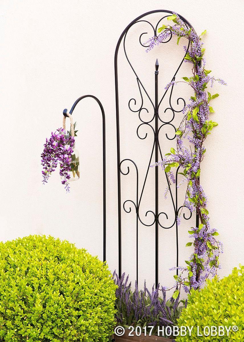 Hobby lobby garden decor  Add elegance to your outdoor decor with beautiful iron u metal