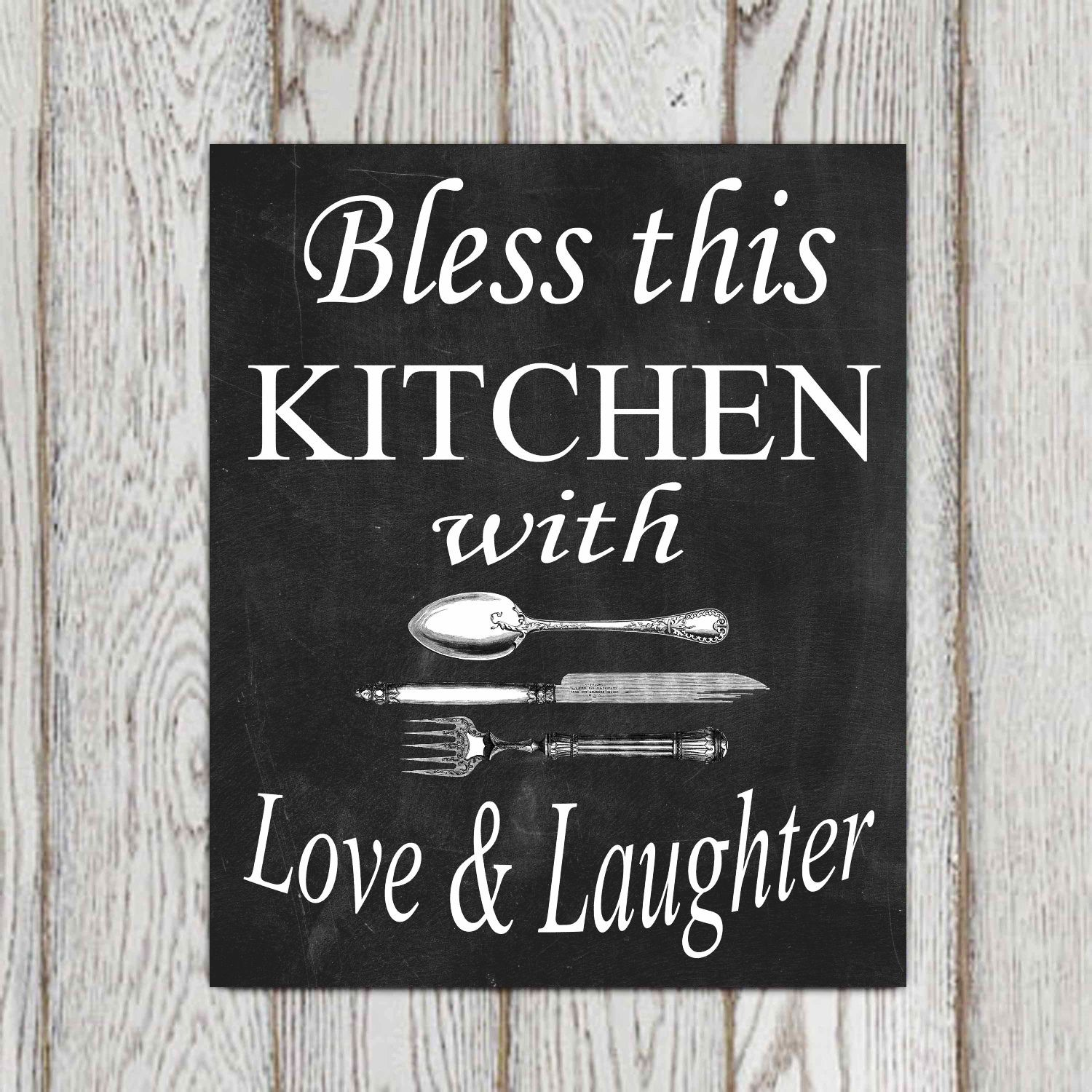 Love Obsession Quotes Bless This Kitchen With Love & Laughter   Foodie Quotes