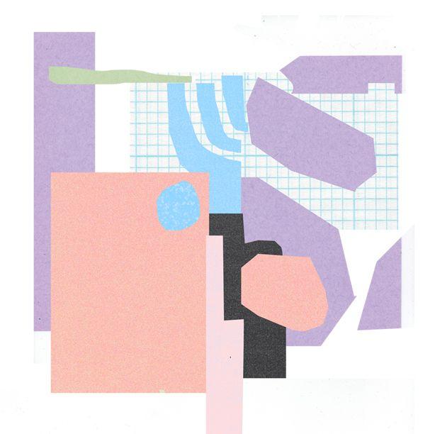 illustration pastel forms collage
