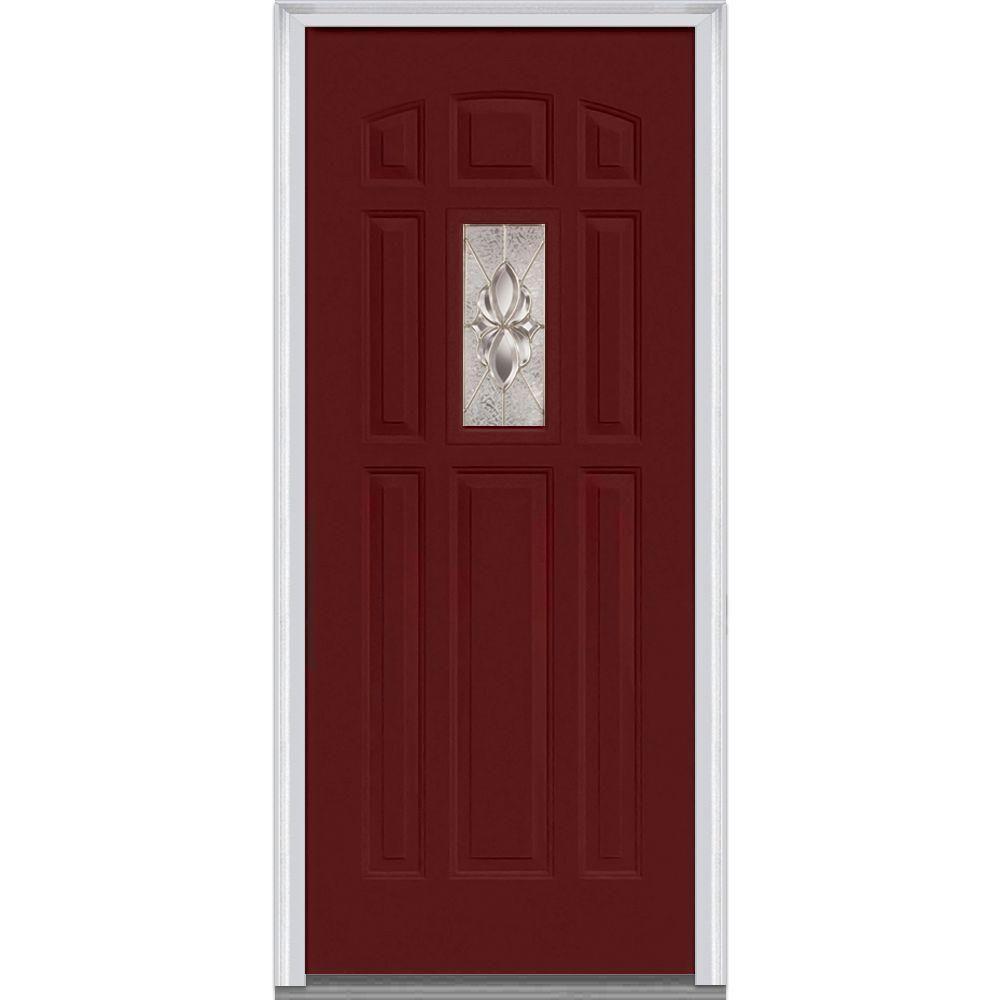 Mmi Door 32 In X 80 In Heirloom Master Left Hand Inswing 1 Lite Decorative 8 Panel Classic Painted Steel Prehung Front Door Z004298l The Home Depot Prehung Doors Steel Doors Exterior Painted Paneling