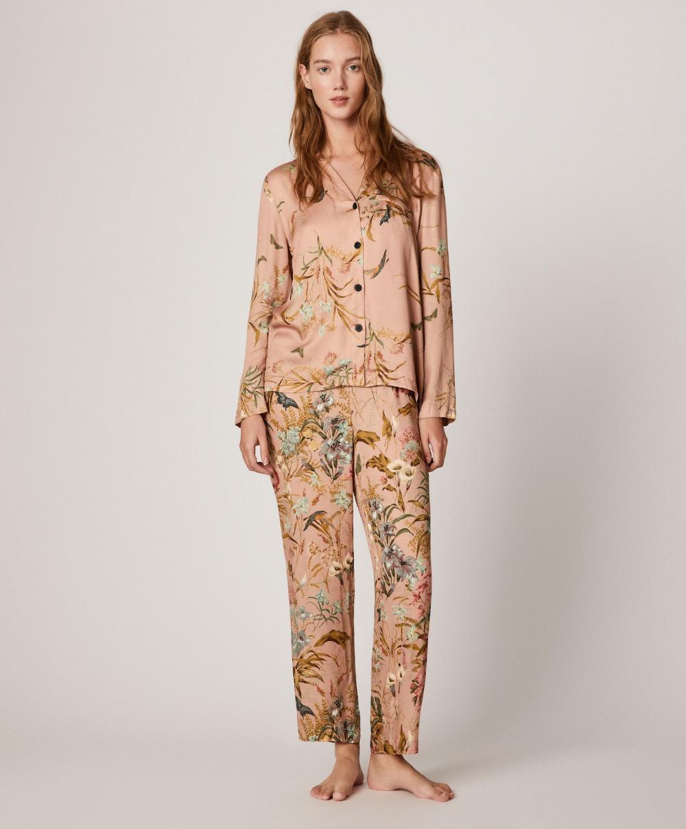 oberteil mit floralem print - pyjamas - pyjamas | oysho