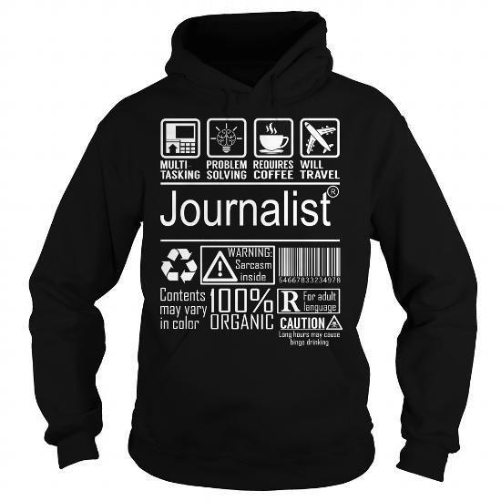 Journalist Job Title - Multitasking T Shirts, Hoodies Sweatshirts. Check price ==► http://store.customtshirts.xyz/go.php?u=https://www.sunfrog.com/Jobs/Journalist-Job-Title--Multitasking-Black-Hoodie.html?41382