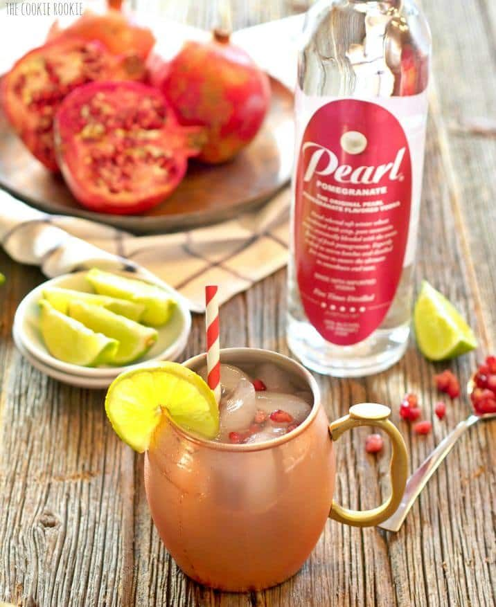 Pomegranate Moscow Mule. The Perfect Winter Cocktail! Be