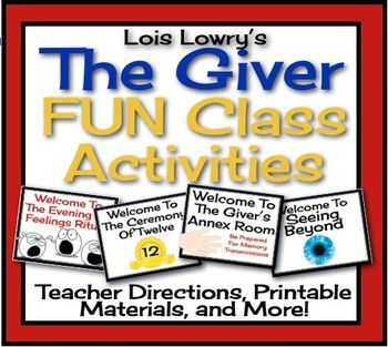GIVER: Fun Class Activities {Printable, Interactive, Assignments)
