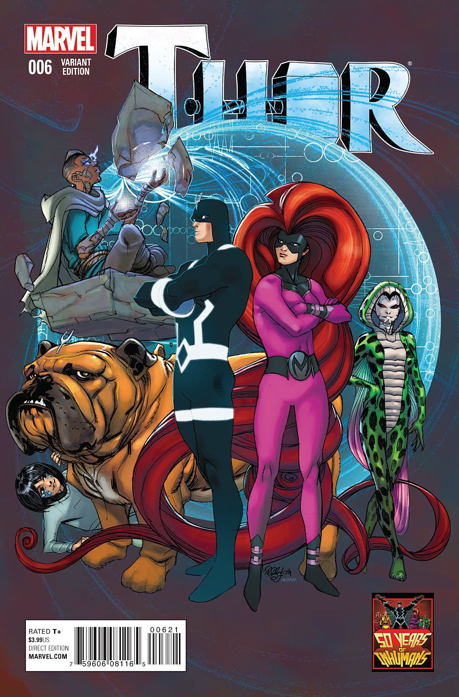 thor 6 50 years of inhumans variant comics ii pinterest