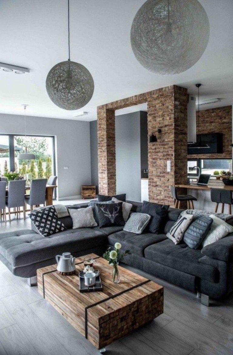 25 Stunning Modern Interior Decorating Inspiration Living Room Decor Apartment Rustic Living Room Industrial Decor Living Room