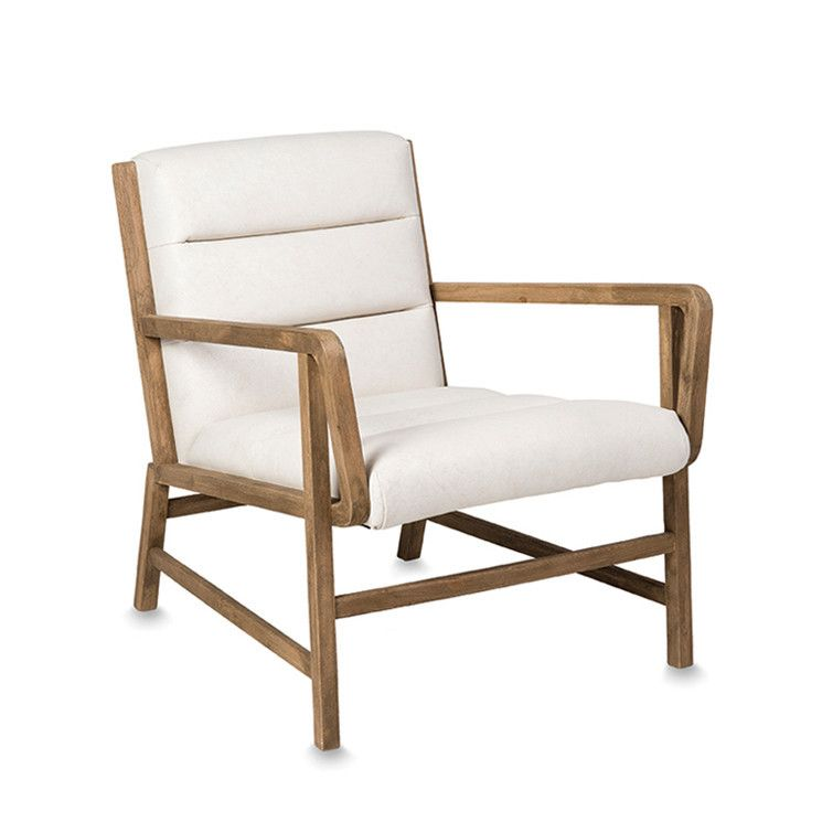 Albin vintage white leather lounge chair by citta design for Citta design outlet