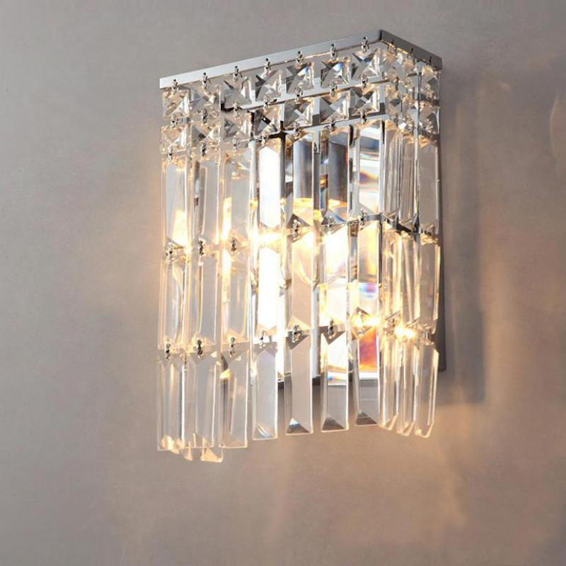 92.00$  Buy here - http://alicaw.worldwells.pw/go.php?t=32686133171 - crystal wall sconce for Bar coffee shop Arandela bathroom crystal light Mirror led crystal wall lamp home interior wall lighting