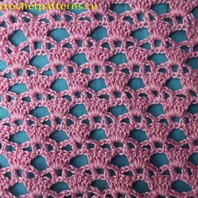 Узор для вязания крючком Веера и подковки #crochettunicpattern