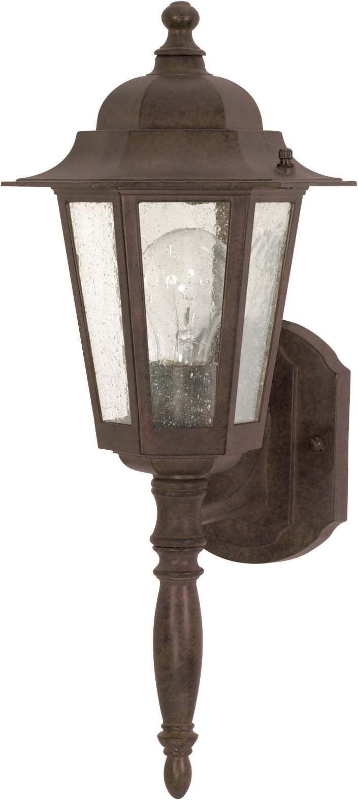Nuvo Cornerstone - 1 Light - 18 inch - Wall Lantern - w/ Clear Seed Glass