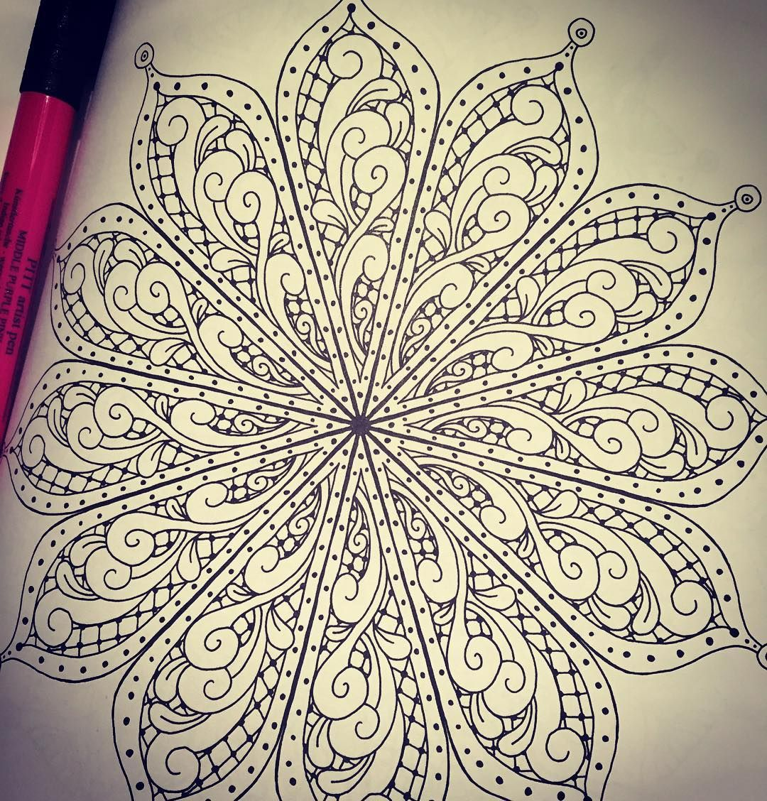 One Of My Mandalas From Posh Coloring Book For Meditation Relaxation