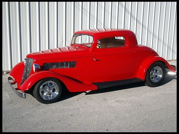 Ford 3 Window Coupe 34 Street Rod 350 400 Hp With Remote Doors Classic Cars Trucks Hot Rods Hot Cars Street Rods