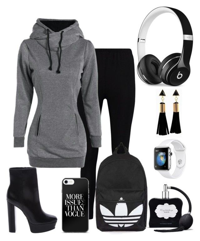 """""""Street Girl"""" by fashionfabulosa on Polyvore featuring Boohoo, Schutz, Topshop, Victoria's Secret and Beats by Dr. Dre"""