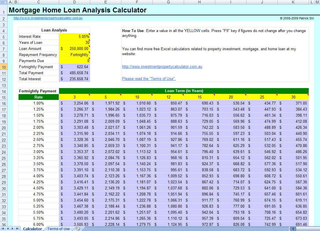 Loan Payment Spreadsheet Amortization Schedule Mortgage Payment Monthly Budget Template Loan amortization schedule excel template