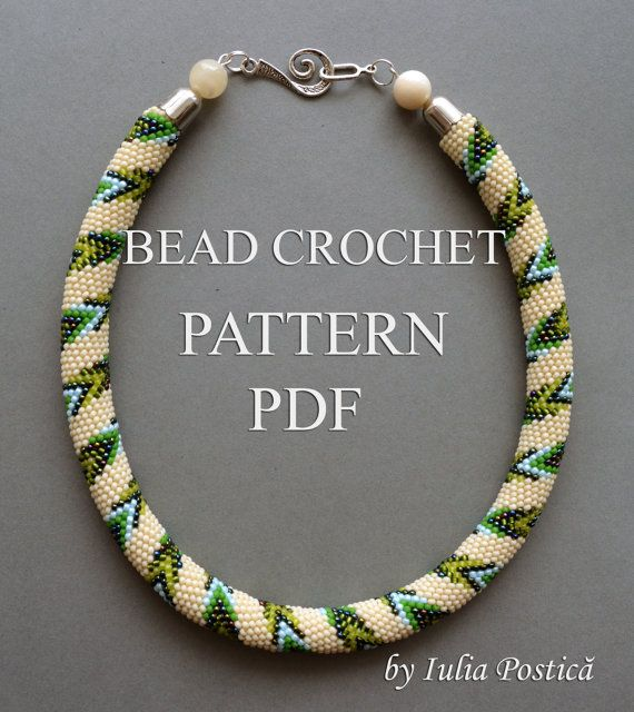 PATH IN SPRING Bead crochet pattern Necklace pattern Seed bead ...