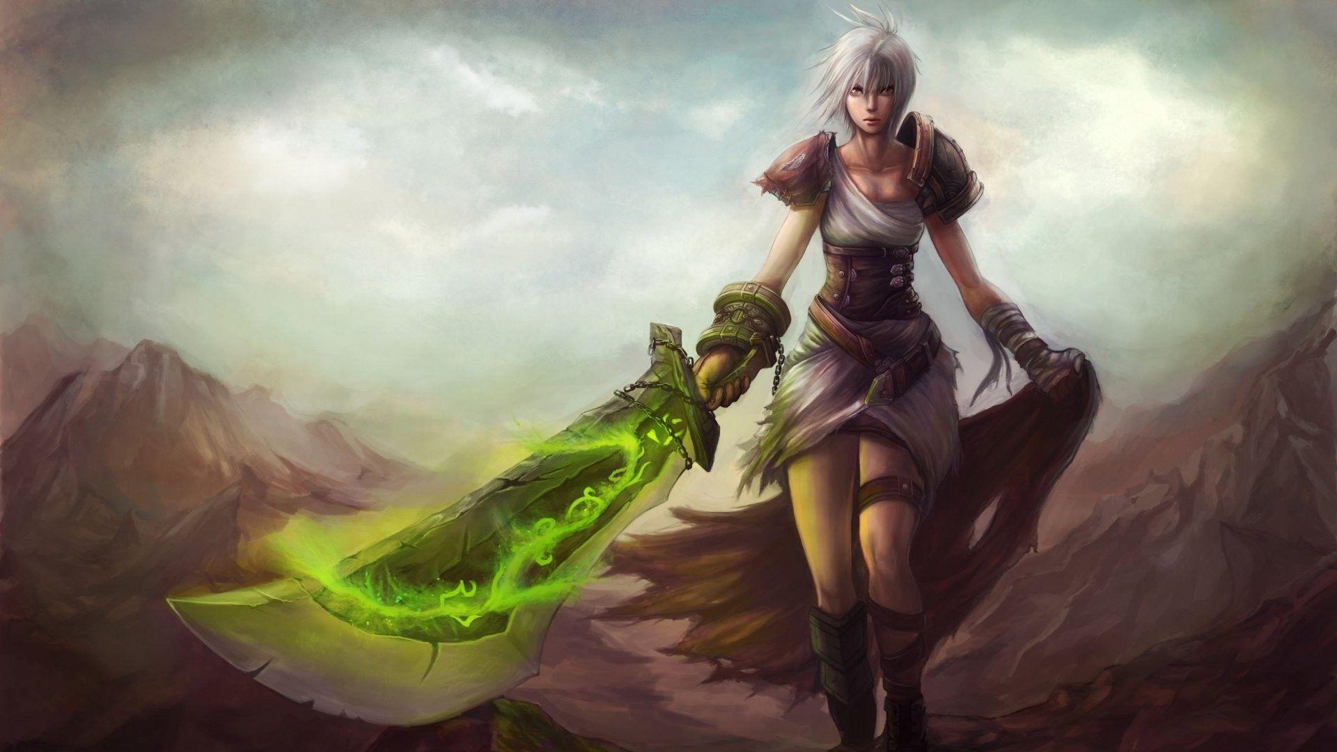 Riven Wallpaper League Of Legends Anime Warrior Art Inspiration