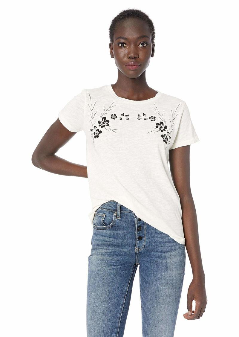 8efbe97bf69 Lucky Brand Women's Floral Embroidered TEE - Shopinzar.com #fashion  #womenstshirts #womenstops #tshirt