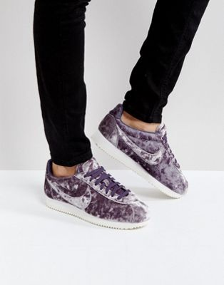 Nike Velvet Cortez Trainers In Lilac