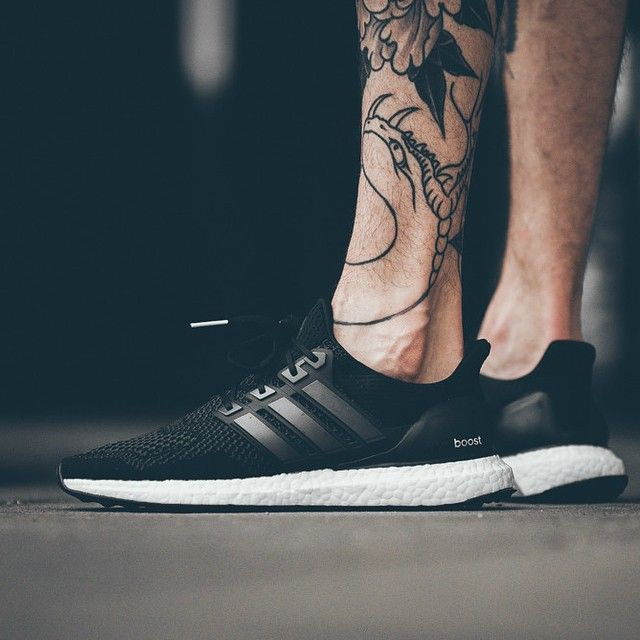 adidas ultra boost mens black and white