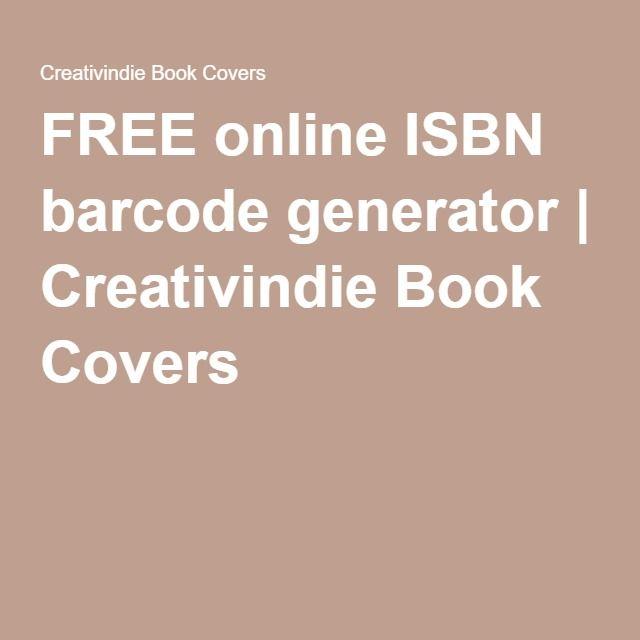FREE online ISBN barcode generator   Creativindie Book