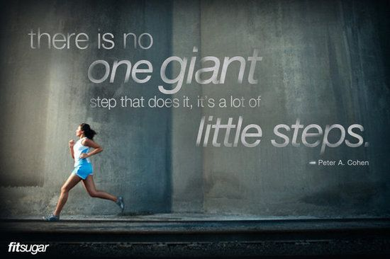 There is no one giant step that does it, it's a lot of little steps. #motivation #fitness