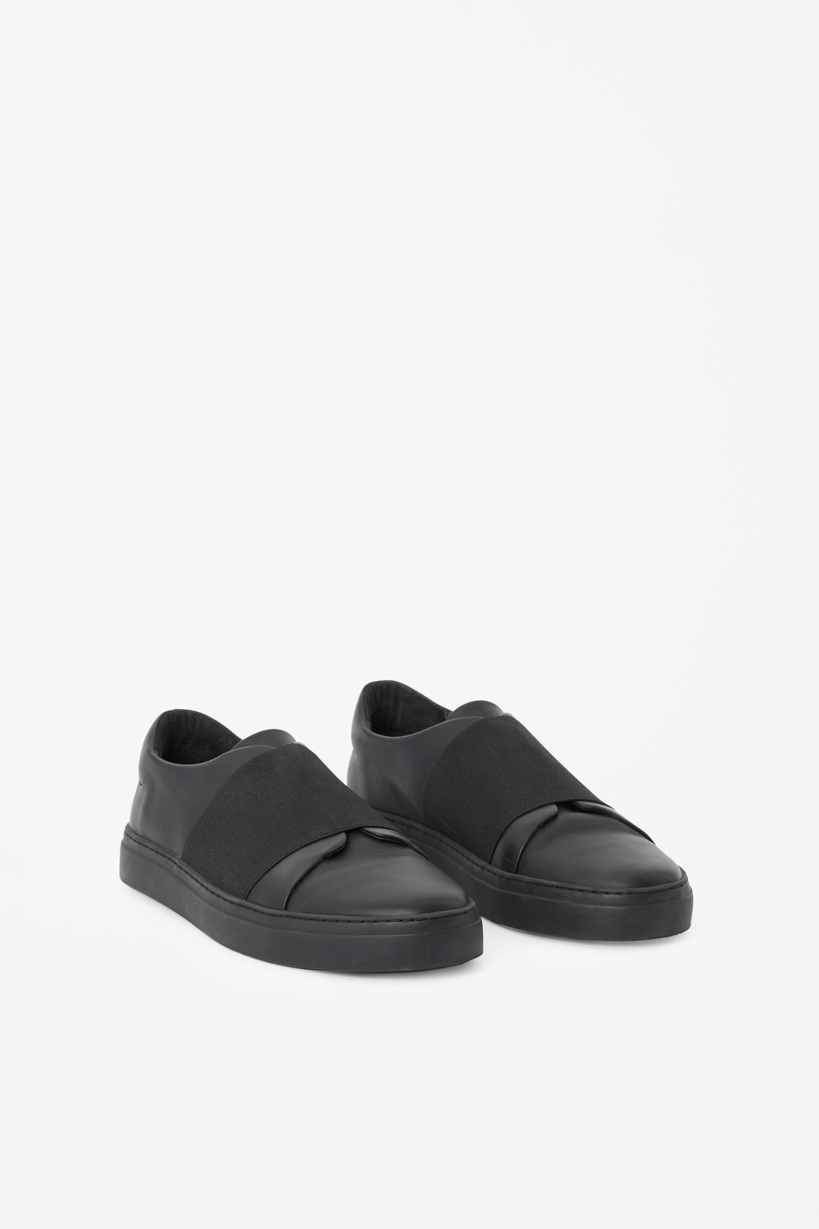 9ab4ed7a18c5d COS - wrap-over leather sneakers in Black | things | Shoes, Leather ...