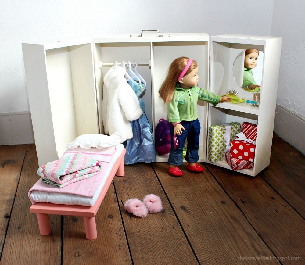 Ana White Doll Closet Folding 18 Inch Doll Furniture