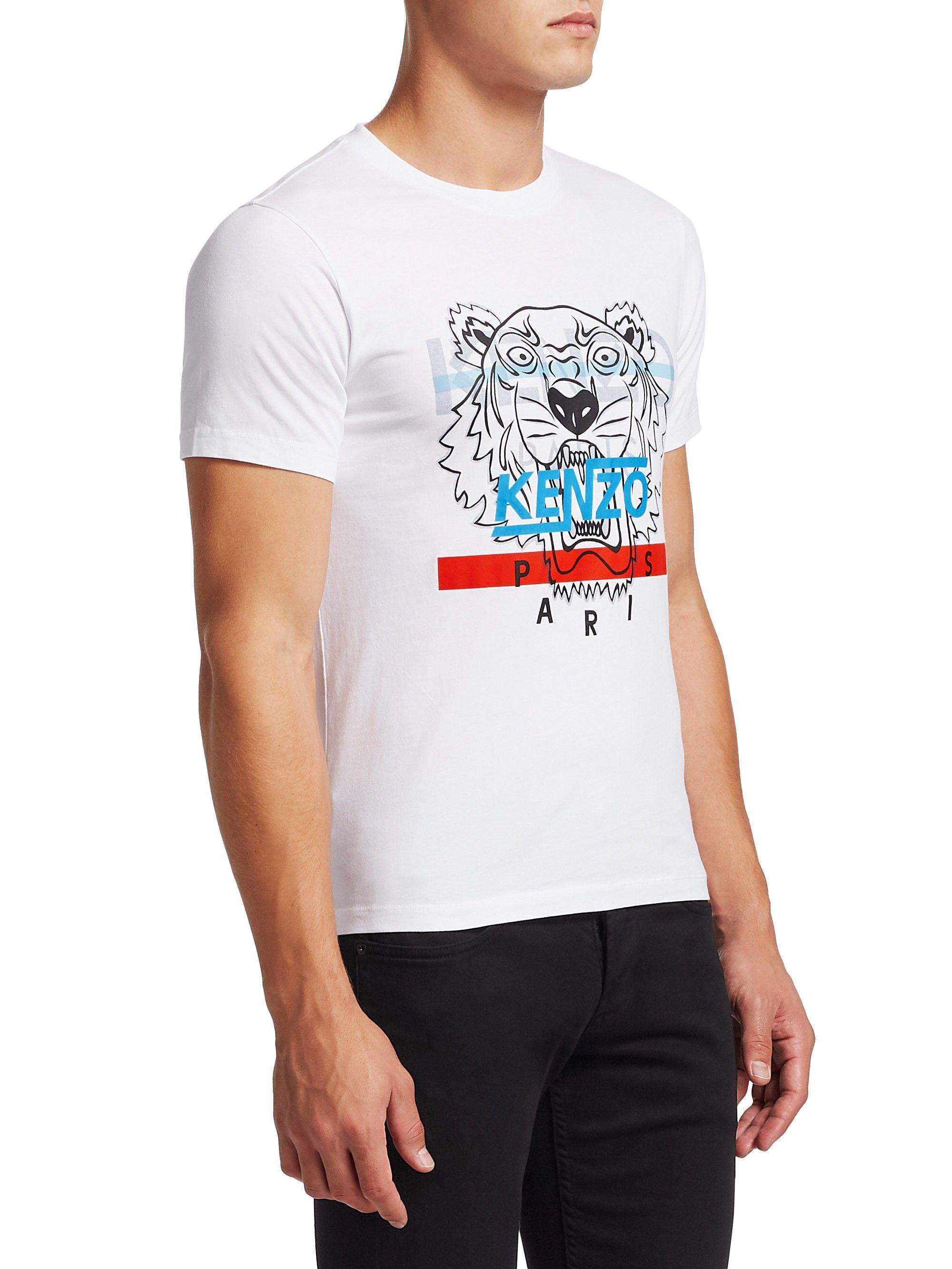 82e281a51 Hyper Tiger Cotton Screen Print Tee by KENZO | Products | Printed ...