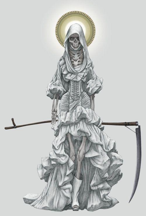 la Santa Muerte  sc 1 st  Pinterest & la Santa Muerte | HOS B | Pinterest | Illustrations Inspiration and ...