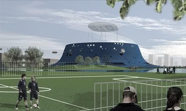 Dinamo Zagreb Blue Volcano Proposal Football Stadiums Gallery Stadium