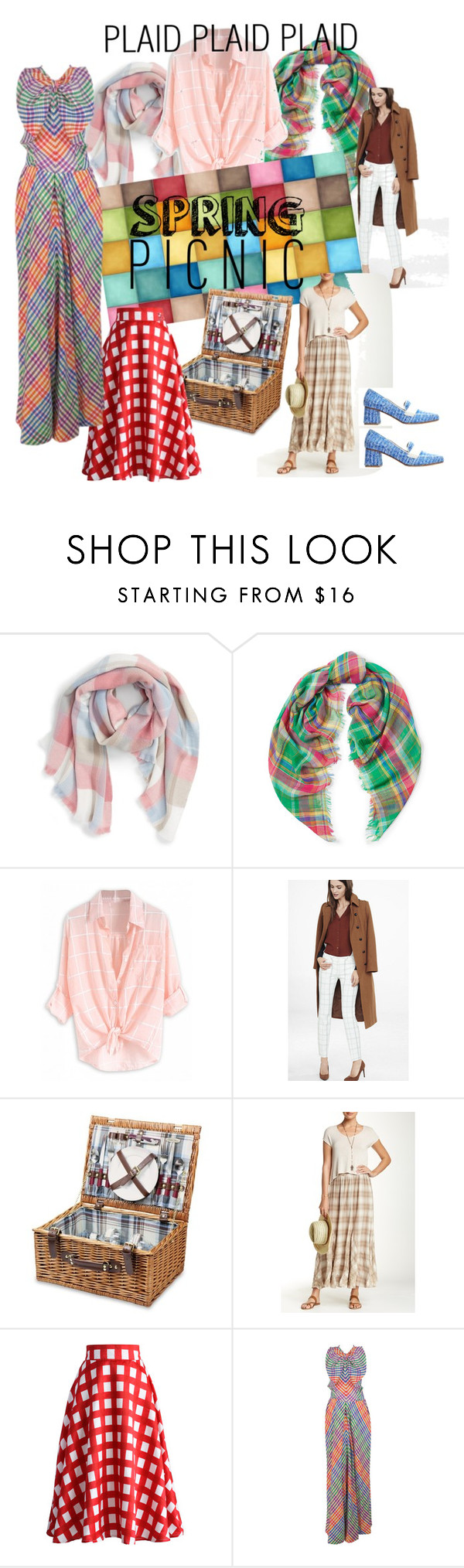 """Wearing plaid is a picnic in spring 2016"" by loriwynne on Polyvore featuring BP., Express, Picnic Time, 4 Love & Liberty, Chicwish and Geoffrey Beene"