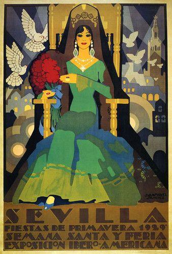 Sevilla, Fiestas de Primavera 1929 : Semana Santa y Feria :: Exposición Ibero-Americana