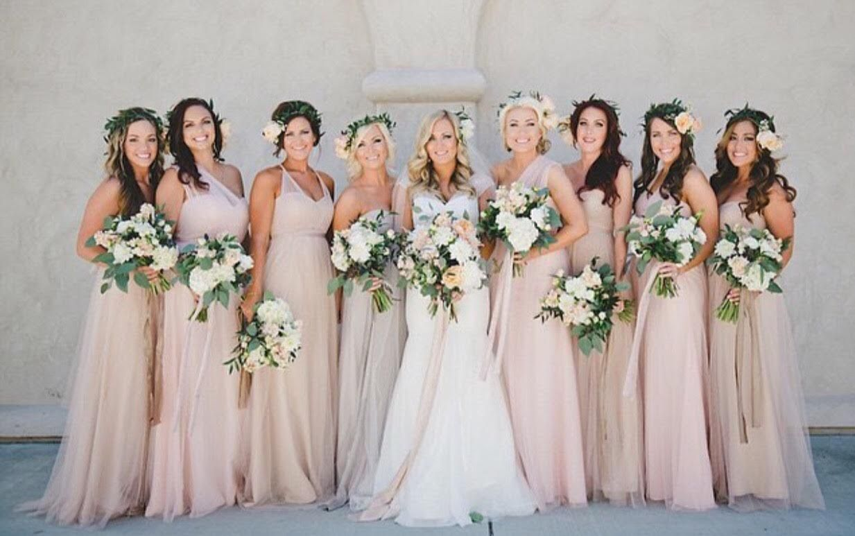 These Are The Bridesmaid Dresses Every Other Color Blush