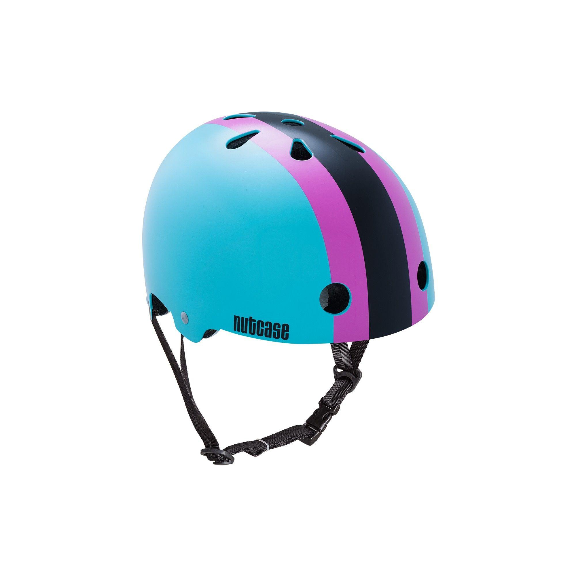 Nutcase Stripe Kids Helmet Teal Childrens Bike Helmets Helmet Roller Skating