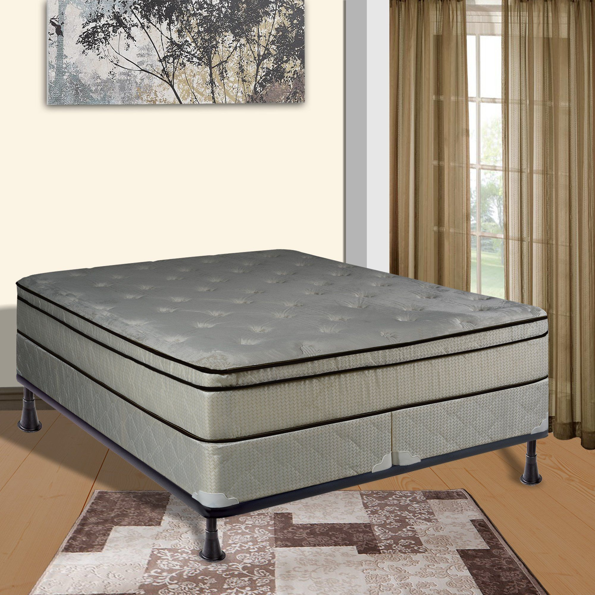 Loft bed plans for full size mattress  Continental Sleep Mattress  Inch Euro Top Assembled  Orthopedic